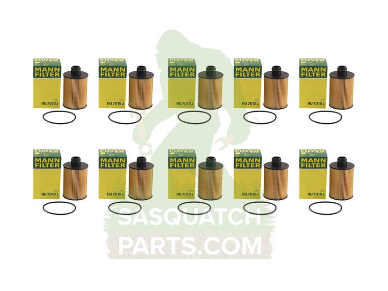 mann engine oil filter 10 pack for 3 0l ecodiesel. Black Bedroom Furniture Sets. Home Design Ideas