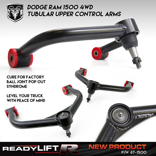 heavy duty upper control arms for ram 1500 3 0l ecodiesel 4wd. Black Bedroom Furniture Sets. Home Design Ideas